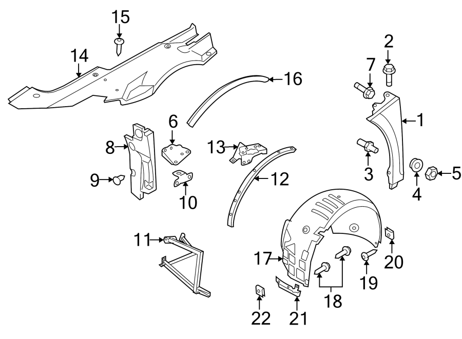 Diagram FENDER & COMPONENTS. for your Audi R8