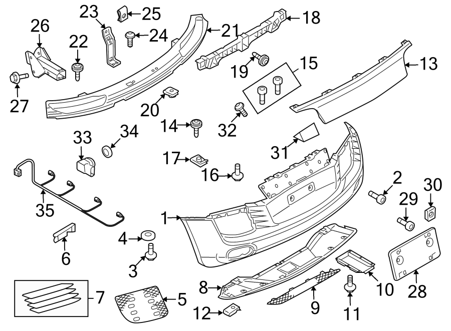 Diagram REAR BUMPER. BUMPER & COMPONENTS. for your Audi R8